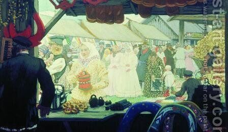 Fair by Boris Kustodiev - Reproduction Oil Painting