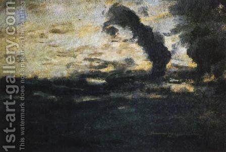 Cloudy sky. Twilight. by Isaak Ilyich Levitan - Reproduction Oil Painting