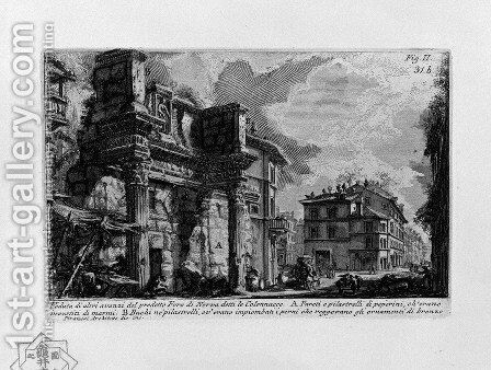 The Roman antiquities, t. 1, Plate XXX. Forum Nervae. by Giovanni Battista Piranesi - Reproduction Oil Painting