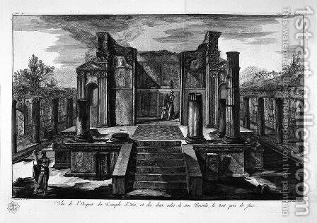 The Temple of Isis de face, with the two wings of his peristillo 2 by Giovanni Battista Piranesi - Reproduction Oil Painting