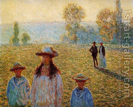 Landscape at Giverny 2 by Claude Oscar Monet - Reproduction Oil Painting