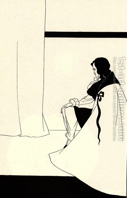 The Fall of the House of Usher by Aubrey Vincent Beardsley - Reproduction Oil Painting