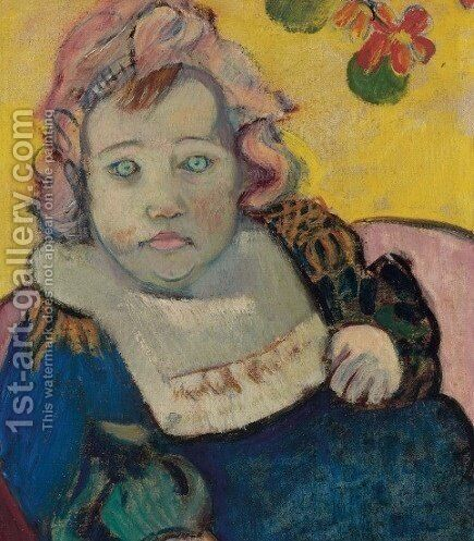 The child by Paul Gauguin - Reproduction Oil Painting
