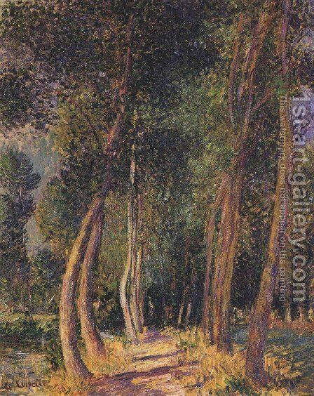 In the Woods by Gustave Loiseau - Reproduction Oil Painting