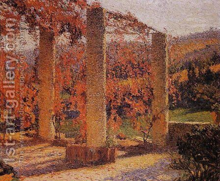 The Arbour in Autumn by Henri Martin - Reproduction Oil Painting