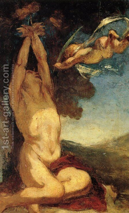 Martyrdom of St. Sebastian by Honoré Daumier - Reproduction Oil Painting