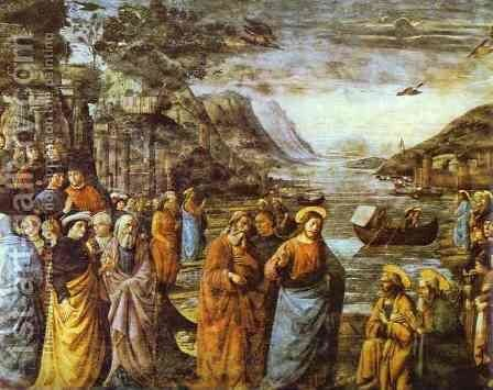 The Calling of St. Peter by Domenico Ghirlandaio - Reproduction Oil Painting