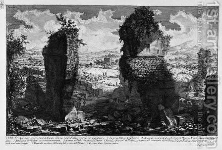 The Roman antiquities, t. 3, Plate VI. View the remains above ground of the ancient Ustrine by Giovanni Battista Piranesi - Reproduction Oil Painting