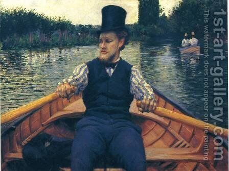 Rower in a Top Hat by Gustave Caillebotte - Reproduction Oil Painting