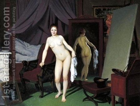 Model in the Studio by Christoffer Wilhelm Eckersberg - Reproduction Oil Painting
