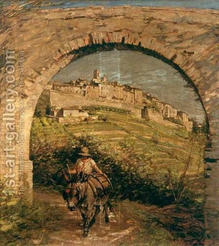 The Aqueduct by Henry Herbert La Thangue - Reproduction Oil Painting