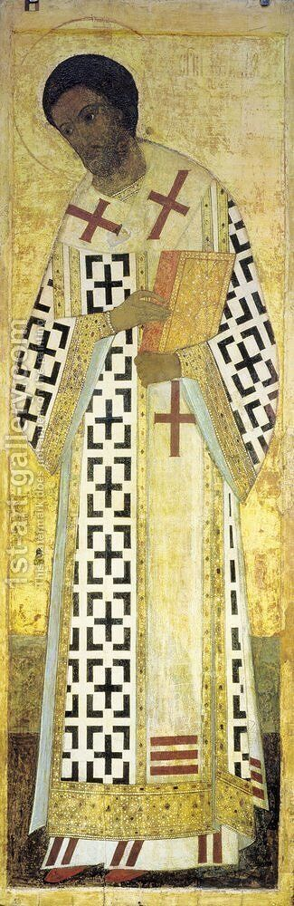 St. John Chrysostom by Andrei Rublev - Reproduction Oil Painting