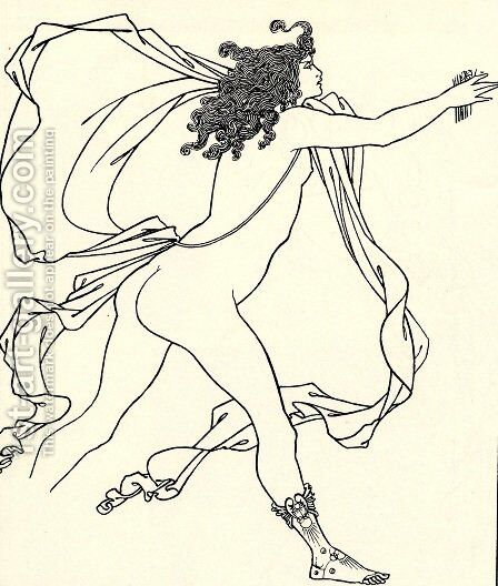 Apollo pursuing Daphne by Aubrey Vincent Beardsley - Reproduction Oil Painting