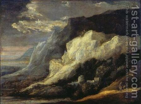 Rocky landscape 2 by Hercules Seghers - Reproduction Oil Painting