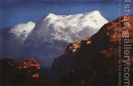 Mountains by Arkhip Ivanovich Kuindzhi - Reproduction Oil Painting