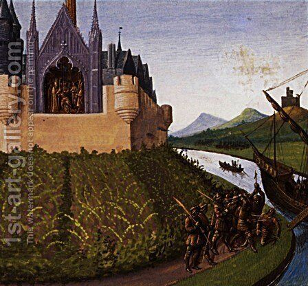 Death of William Longsword by Jean Fouquet - Reproduction Oil Painting