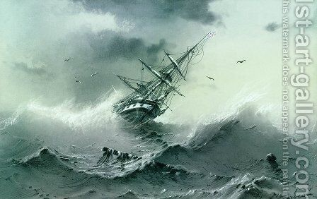 Shipwreck 2 by Ivan Konstantinovich Aivazovsky - Reproduction Oil Painting
