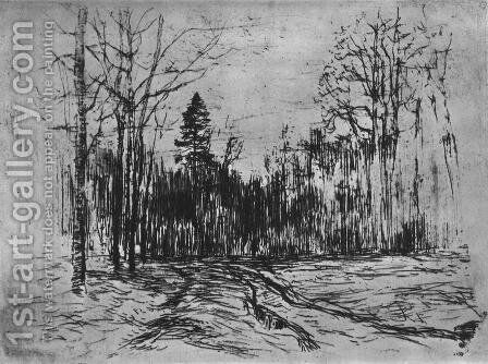 Path in the forest by Isaak Ilyich Levitan - Reproduction Oil Painting