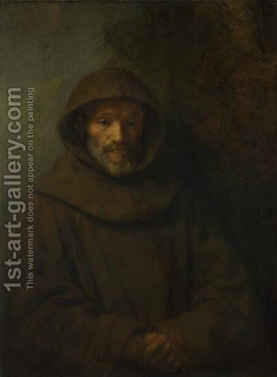 A Franciscan Friar by Rembrandt - Reproduction Oil Painting