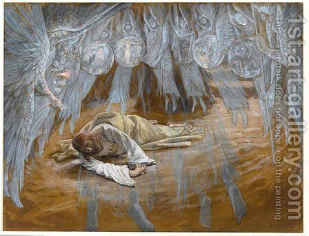 The Grotto of the Agony by James Jacques Joseph Tissot - Reproduction Oil Painting