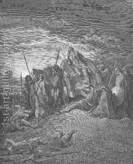 The Death of Ahab by Gustave Dore - Reproduction Oil Painting