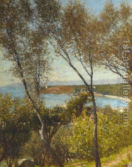 A Ligurian Bay by Henry Herbert La Thangue - Reproduction Oil Painting