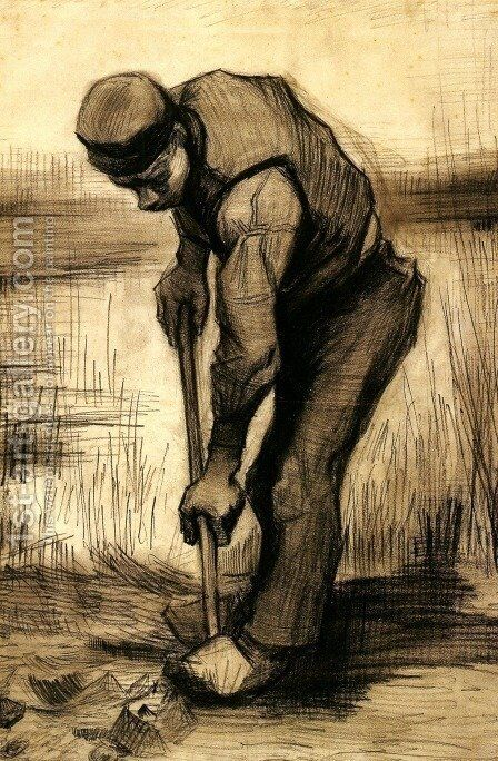 Digger 4 by Vincent Van Gogh - Reproduction Oil Painting