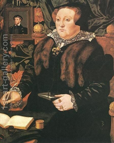Portrait of Lady Dacre 1540 by Hans Eworth - Reproduction Oil Painting