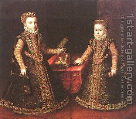 Infantas Isabella Clara Eugenia and Catalina Micaela by Sofonisba Anguissola - Reproduction Oil Painting