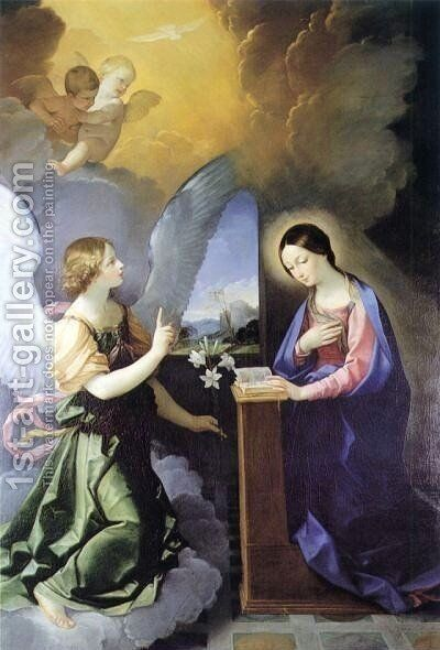 Annunciation by Guido Reni - Reproduction Oil Painting