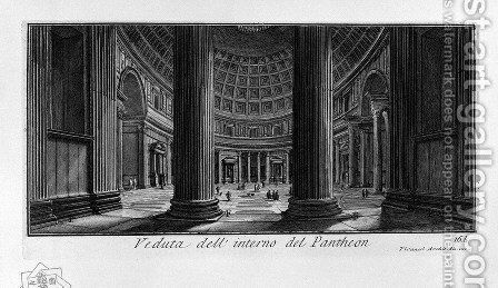 The Roman antiquities, t. 1, Plate XV. Pantheon. by Giovanni Battista Piranesi - Reproduction Oil Painting