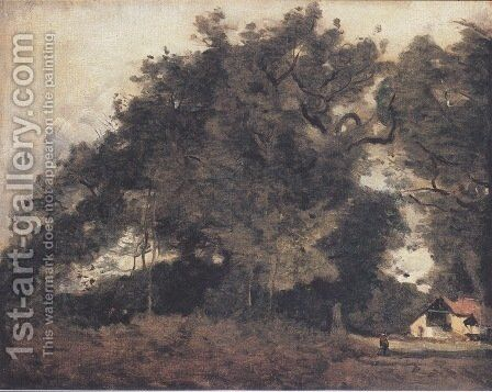Passiance, in Saint Avit by Jean-Baptiste-Camille Corot - Reproduction Oil Painting