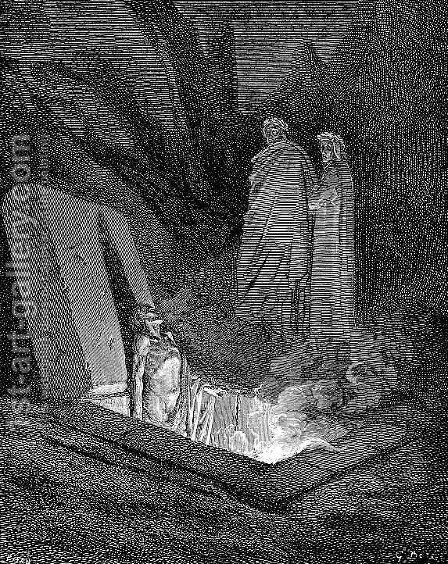 Farinata by Gustave Dore - Reproduction Oil Painting