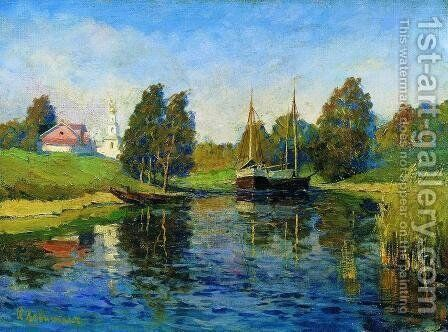 Lake. Autumn. by Isaak Ilyich Levitan - Reproduction Oil Painting