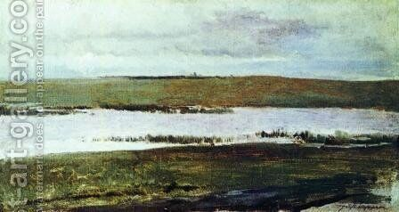 A river by Isaak Ilyich Levitan - Reproduction Oil Painting