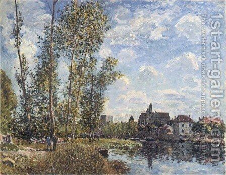 May Afternoon on the Loing by Alfred Sisley - Reproduction Oil Painting