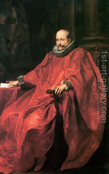 Agostino Pallavicini by Sir Anthony Van Dyck - Reproduction Oil Painting