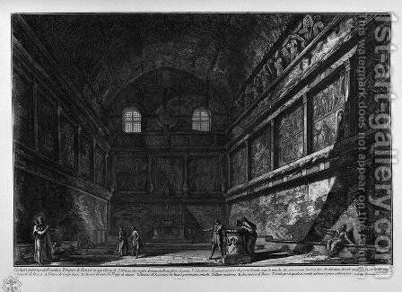 View of the Temple of Bacchus, now in the Church of St. urban by Giovanni Battista Piranesi - Reproduction Oil Painting