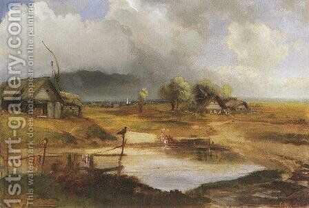 Country Scene by Alexei Kondratyevich Savrasov - Reproduction Oil Painting
