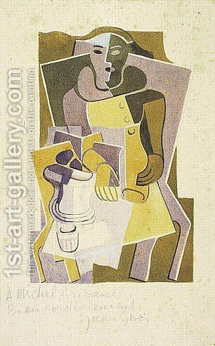 Harlequin 3 by Juan Gris - Reproduction Oil Painting