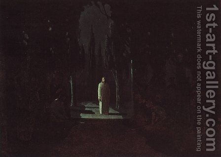 Christ in the Garden of Gethsemane by Arkhip Ivanovich Kuindzhi - Reproduction Oil Painting