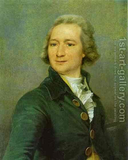 Portrait of I. I. Dmitriyev by Dmitry Levitsky - Reproduction Oil Painting