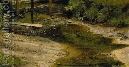 Forest River 2 by Ivan Shishkin - Reproduction Oil Painting
