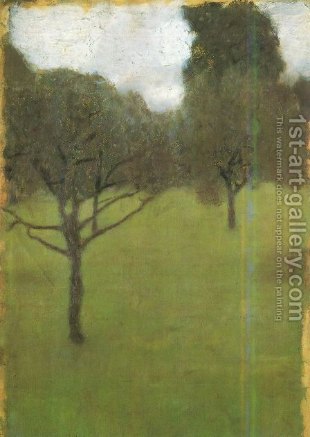 Orchard by Gustav Klimt - Reproduction Oil Painting