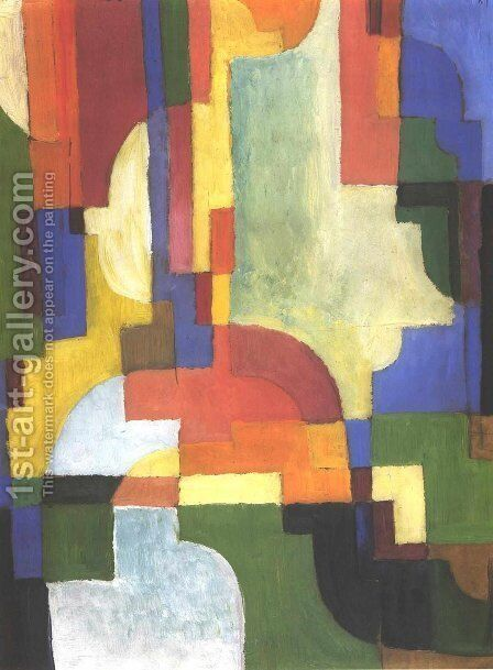 Colourfull shapes 2 by August Macke - Reproduction Oil Painting