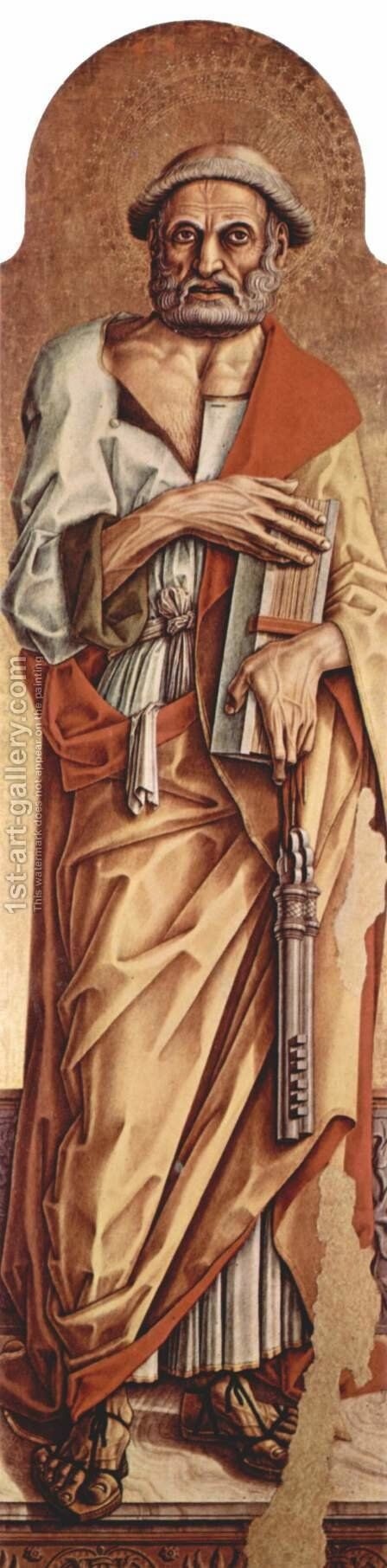 Saint Peter by Carlo Crivelli - Reproduction Oil Painting