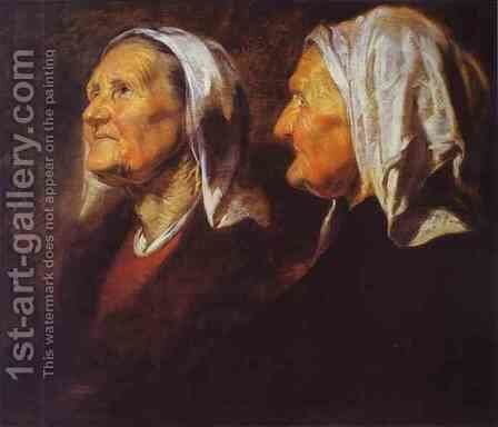 Head of an Old Woman by Jacob Jordaens - Reproduction Oil Painting