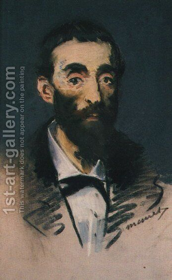 Portrait of Ernest Cabaner by Edouard Manet - Reproduction Oil Painting