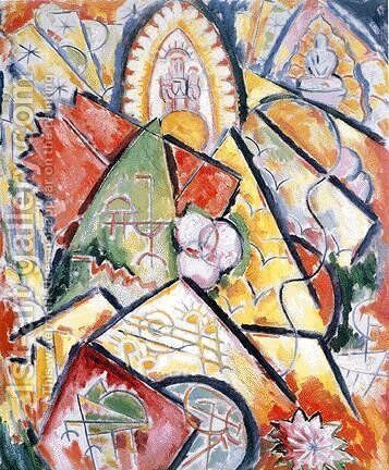 Musical Theme (Oriental Symphony) by Marsden Hartley - Reproduction Oil Painting