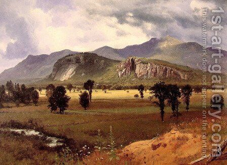 Moat Mountain Intervale, New Hampshire 2 by Albert Bierstadt - Reproduction Oil Painting